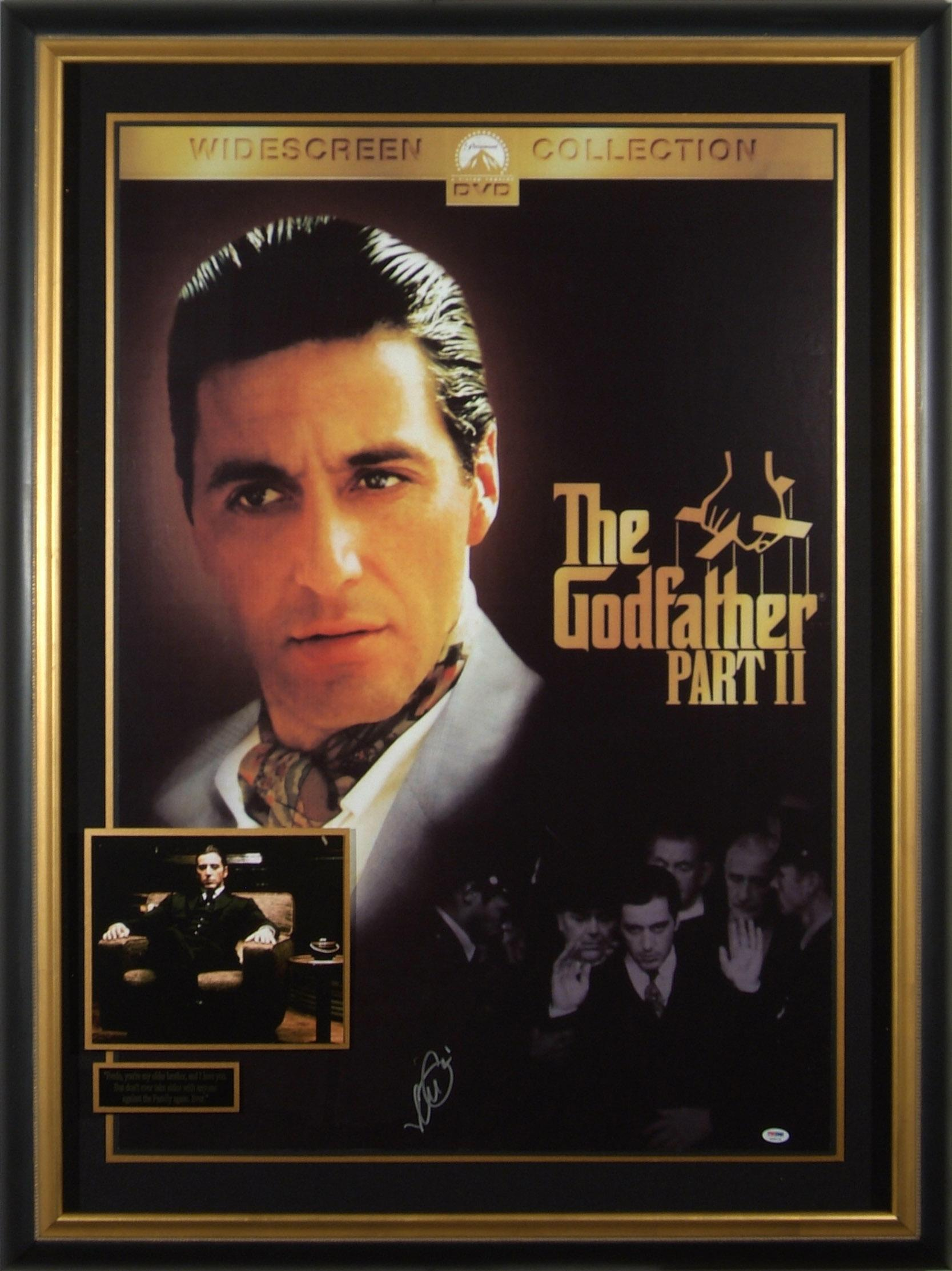Movie posters framed godfather