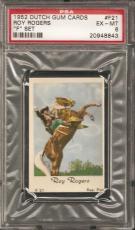 ~ 1952 Dutch Gum ~ ROY ROGERS with Trigger ~ PSA 6 ~ Vintage Western Cowboy !!