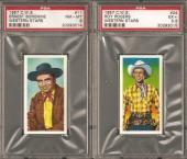 ~ 1957 Western Stars Tobacco ~ ERNEST BORGNINE ~ PSA 8 ~ Vintage Cowboy !!