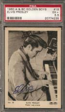 "~ 1960 A & BC Golden Boys #18 ~ ELVIS PRESLEY ~ PSA 5.5 ~ Rare ""The King"" ~"