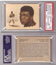 ~ 1965 Bancroft Tiddlers ~ CASSIUS CLAY or MUHAMMAD ALI Rc ~ PSA 8 ~ Rookie