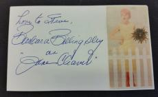 "~ BARBARA BILLINGSLEY ""June Cleaver"" 3 x 5 Index Card ~ JSA Certified Autograph"