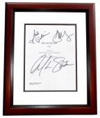 $#!% MY DAD SAYS Signed - Autographed Script - Guaranteed to pass PSA or JSA Cover by William Shatner, Jonathan Sadowski, and Nicole Sullivan MAHOGANY CUSTOM FRAME - Guaranteed to pass PSA or JSA