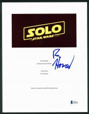 Ron Howard Solo A Star Wars Story Signed 8.5x11 Script Cover BAS #D05844