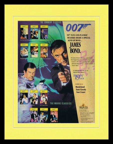 007 James Bond 1989 Framed 11x14 ORIGINAL Vintage Advertisement Sean Connery