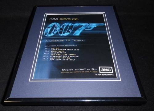 008 Days of 007 James Bond 2004 Framed 11x14 ORIGINAL Vintage Advertisement