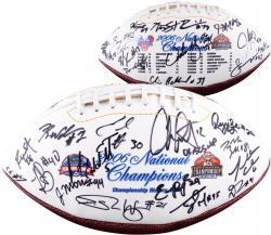 Florida Gators Autographed National Championships Logo Football
