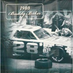 2009 Daytona 500 Memorable Moments 90'' x 83'' 1980 Buddy Baker Backstretch Banner Panel  - Mounted Memories