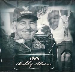 2009 Daytona 500 Memorable Moments 77'' x 83'' 1988 Bobby Allison Backstretch Banner Panel - Mounted Memories