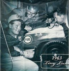 "2009 Daytona 500 Memorable Moments 87"" x 83"" 1963 Tiny Lund Backstretch Banner Panel"