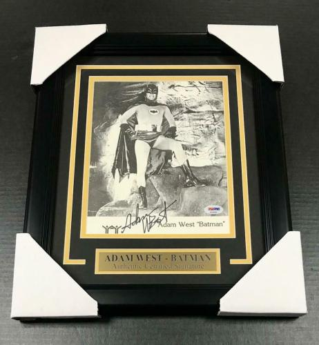 #1 Batman Adam West Signed Authentic Autographed 8x10 Photo Framed Psa Coa
