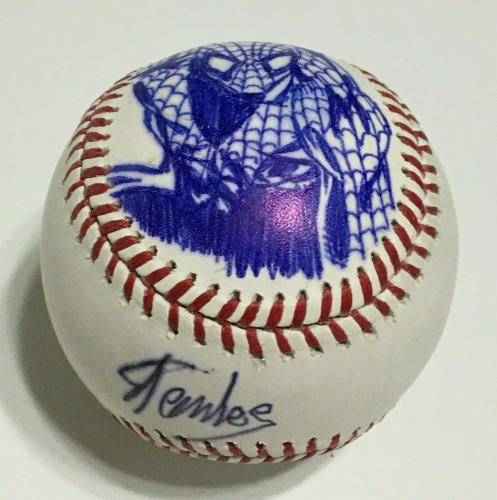 Stan Lee Signed Major League Baseball MLB W/ Spider-Man  Sketch BAS G23830