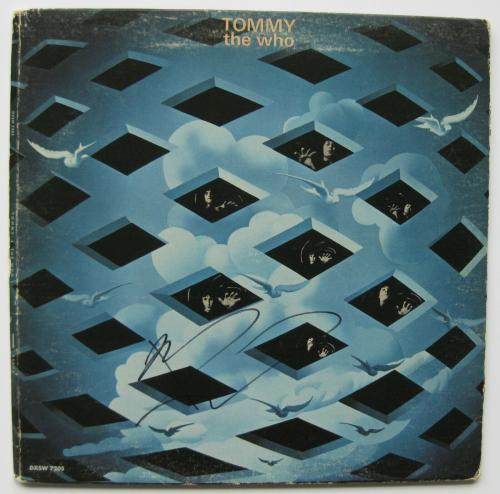 Pete Townshend signed autographed The Who Tommy album, Vinyl Record, COA Proof