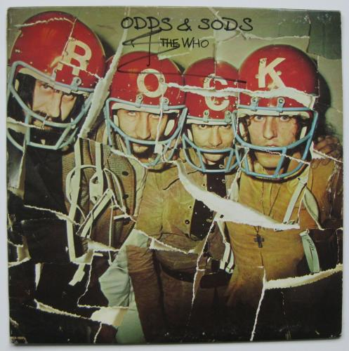 Pete Townshend signed autographed The Who Odds & Sods album, Vinyl Record, Proof