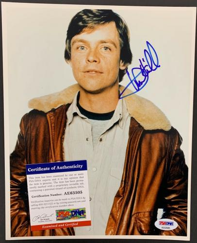 Mark Hamill Signed Photo PSA/DNA 8x10 Autograph Luke Skywalker Star Wars Force
