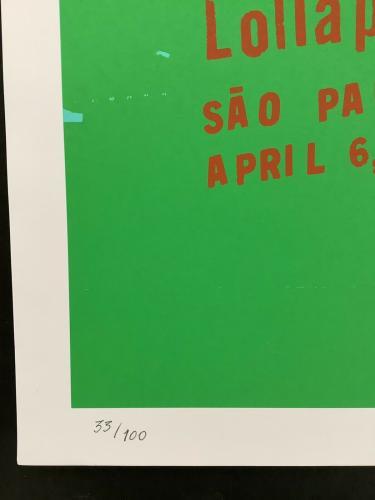 Soundgarden Poster Chris Cornell 2014 Lollapalooza SIgned LE 33/100 Paulo Brazil