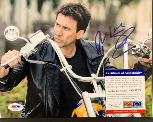 Nicolas Cage Signed Photo PSA/DNA 8x10 Autograph Moonstruck Face Off Con Air