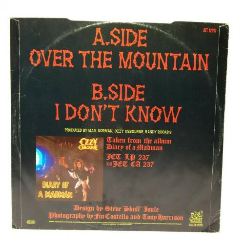 Ozzy Osbourne Signed Over The Mountain Record Album LP *I Don't Know PSA AF95132