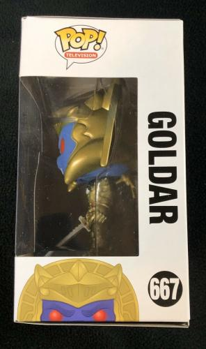 """Kerrigan Mahan Signed & Inscribed """"Goldar"""" Power Rangers Funko Pop Figure"""