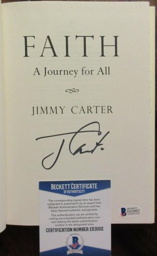 President Jimmy Carter Signed Book - Beckett BAS