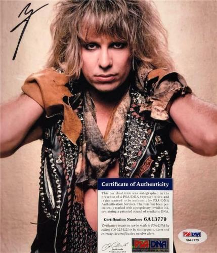Motley Crue singer Vince Neil autograph signed 8x10 Photo #1 ~ PSA Witness COA