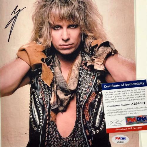 Motley Crue singer Vince Neil autograph signed 8x10 Photo #1 ~ PSA/DNA COA