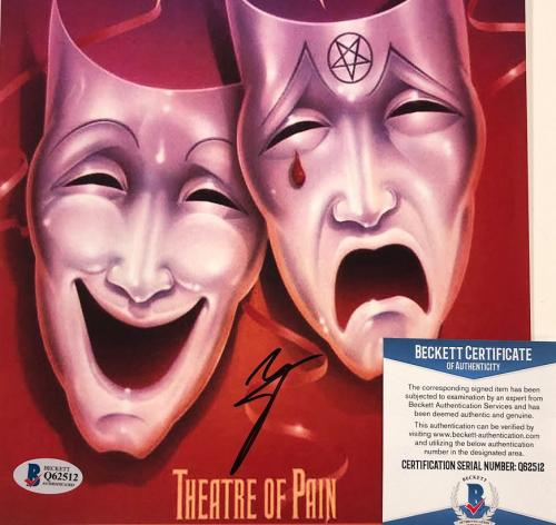 Motley Crue singer Vince Neil signed Theatre of Pain 8x10 photo ~Beckett BAS COA