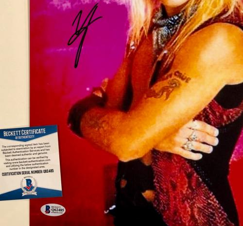 Motley Crue singer Vince Neil autograph signed 11x14 photo #1 ~ Beckett BAS COA