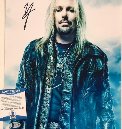 Motley Crue lead singer Vince Neil signed 11x14 photo A ~ Beckett BAS COA