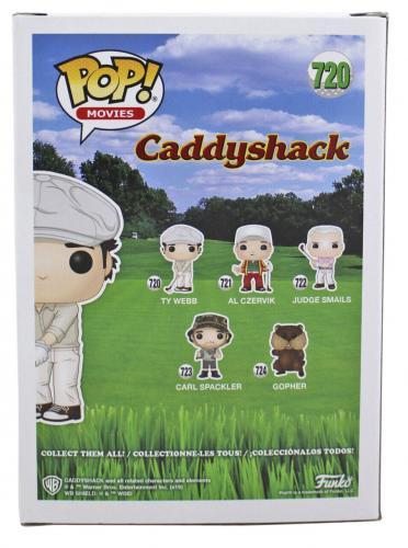 "Chevy Chase Caddyshack ""Ty"" Signed LE Blindfold Funko Pop Vinyl Figure BAS"