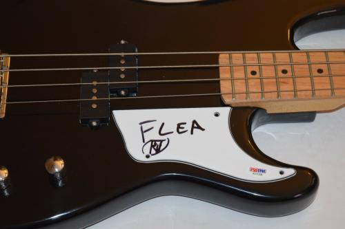 FLEA Signed Autographed Bass Guitar RED HOT CHILI PEPPERS PSA/DNA COA