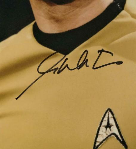 William Shatner Autographed 11x14 Star Trek Close Up Photo - Beckett Auth *Black