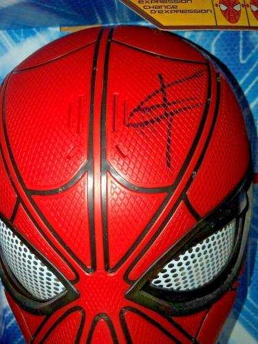 Tom Holland Spider Man Avengers Signed Mask w/Beckett COA Proof Disney Q87870