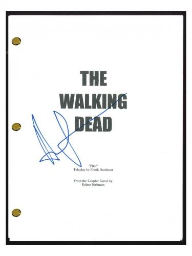 Andrew Lincoln Signed Autographed THE WALKING DEAD Pilot Script Rick Grimes COA