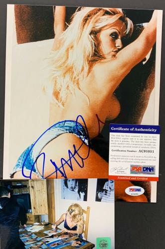 Pamela Anderson Signed Photo PSA/DNA 8x10 Autographed Sexy Baywatch Hot Shot