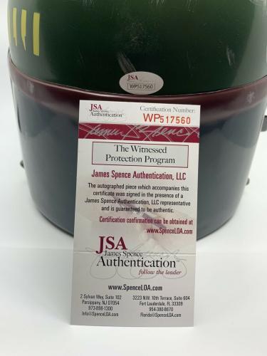 Jeremy Bulloch signed Full Size Boba Fett Helmet autographed JSA Witness