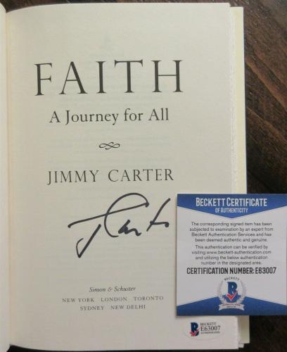 President Jimmy Carter Signed Book - Beckett BAS