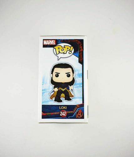 Tom Hiddleston Avengers Loki Autographed Signed Funko Pop Authentic JSA COA