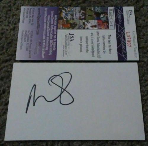 Miley Cyrus Music Legend Signed Autographed 3x5 Index Card Jsa Coa