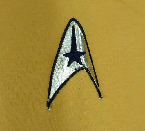 William Shatner Autographed Star Trek Uniform Shirt With Zipper XL JSA Stock #159210