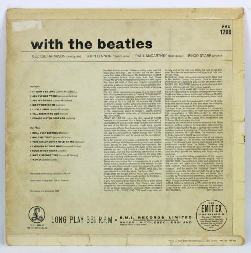 Beatles (4) Signed Parlophone First Pressing Album Cover W/ Vinyl REAL & BAS LOA