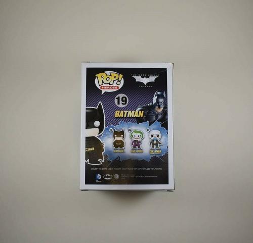 Christian Bale Batman The Dark Knight Autographed Signed Funko Pop JSA COA AFTAL