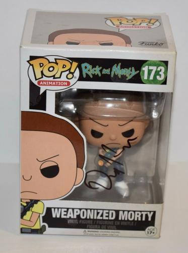 Dan Harmon Signed Rick and Morty WEAPONIZED MORTY 173 Funko Pop Figure COA