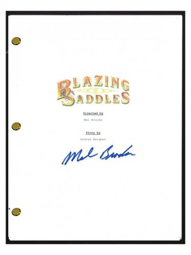 Mel Brooks Signed Autographed BLAZING SADDLES Movie Script Screenplay COA