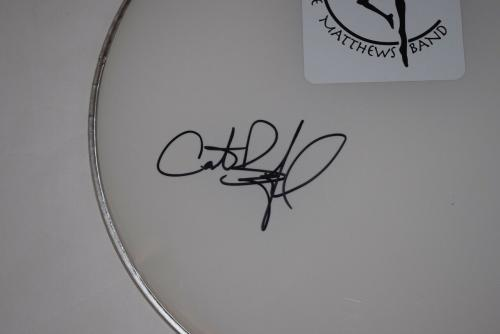 """Carter Beauford Signed Autograph 14"""" Drumhead Dave Matthews Band COA"""