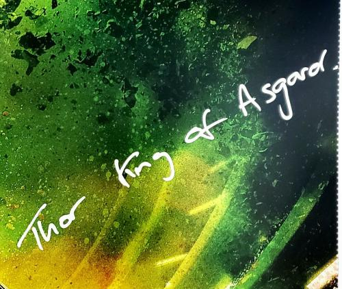 "CHRIS HEMSWORTH Signed ""THOR King Of Asgard"" 20x30 Photo Beckett BAS Witness"