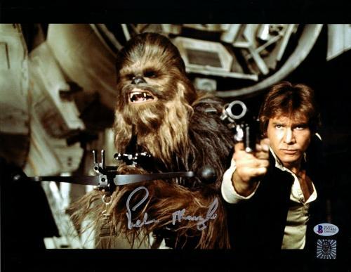 "PETER MAYHEW Signed  STAR WARS ""Chewbacca"" 11x14 Photo BECKETT BAS #D55804"