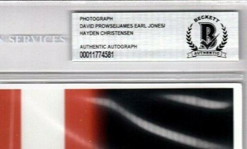 JAMES EARL JONES CHRISTENSEN & PROWSE Signed Star Wars 8x10 Photo BAS Slabbed
