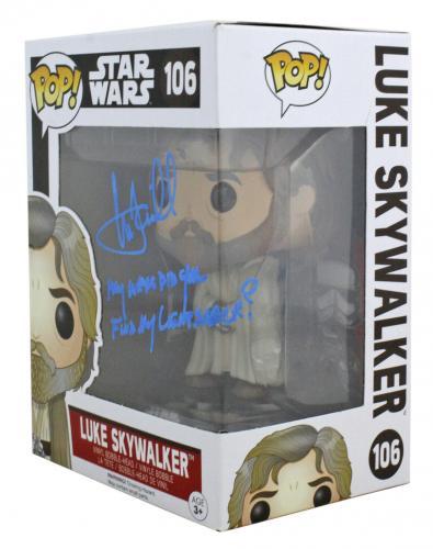 Mark Hamill Signed & Inscribed Luke Skywalker #106 Funko Pop Vinyl Figure BAS