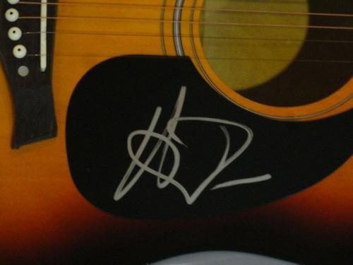 Hardy Signed Full-size Sunburst Acoustic Guitar Country Superstar Rare Psa Coa